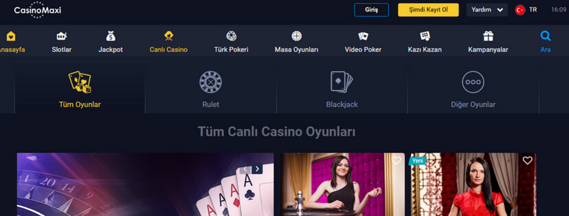 casinomaxi canlı casino